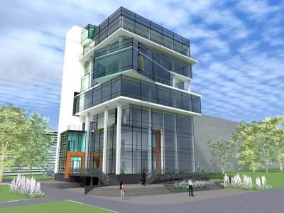 Проект административного здания. Разработка проектов бизнес центров, офисных зданий, многофункциональных центров. Проектирование зданий под ключ в Томске.